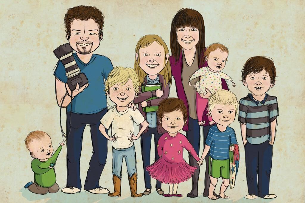 The Breker Family - portrait by Elise Hylden